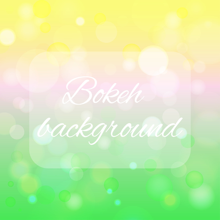 Vector abstract background with the image of bokeh. Stock Photo