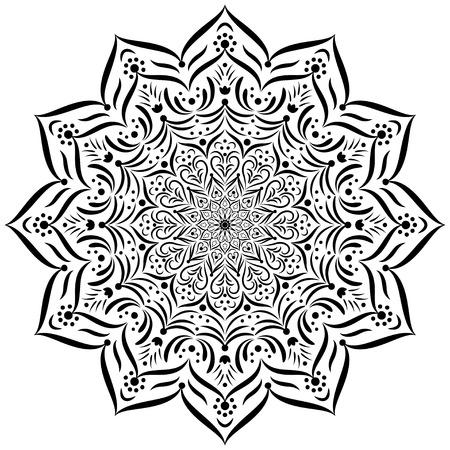 signifier: Mandala. Circular vector ornament.