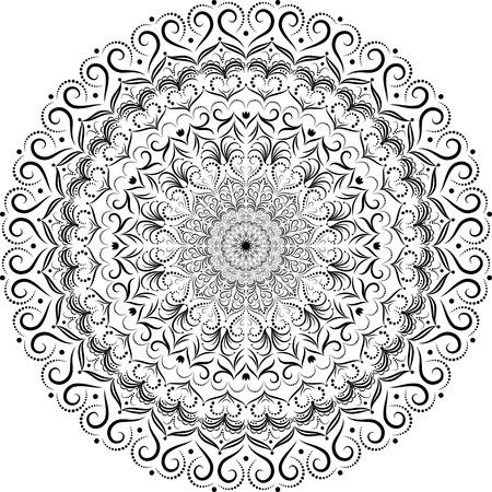 signifier: Mandala. Circular vintage vector ornament.