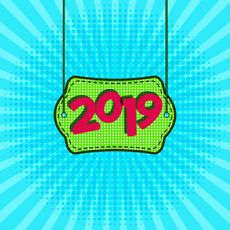 Advertising New Year s poster template for your design. Vector illustration. Stockfoto - 127502380