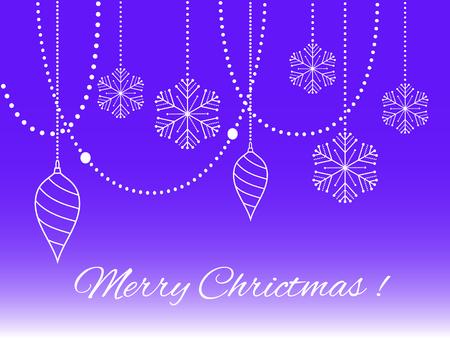 Christmas background with christmas snowflake