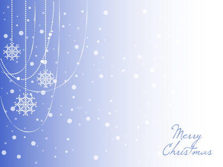 Christmas background with christmas snowflake