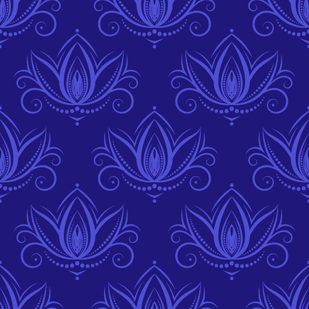 Seamless pattern in vintage style on a dark background. Vector.