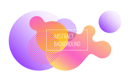 Abstract geometric banner with flowing liquid shapes. Layout.
