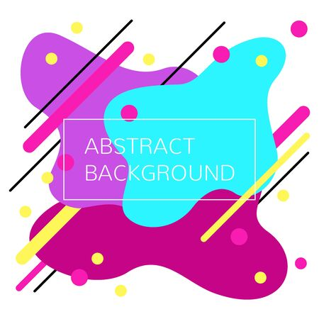 Abstract geometric background with flowing liquid shapes. Layout.