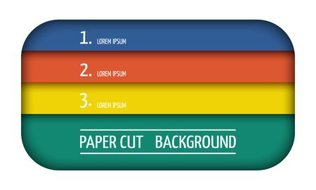 Geometric background. Fashionable composition of colored shapes cut out of paper. Landing page.Web design. Vector.
