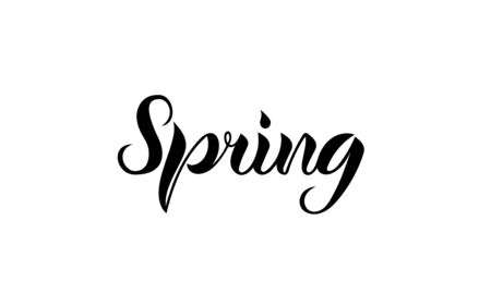 Spring. Lettering. The letters are written by hand. Vector.