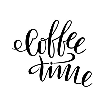 Coffee time. Lettering for t-shirts, cups, glasses. The letters are written by hand. 일러스트