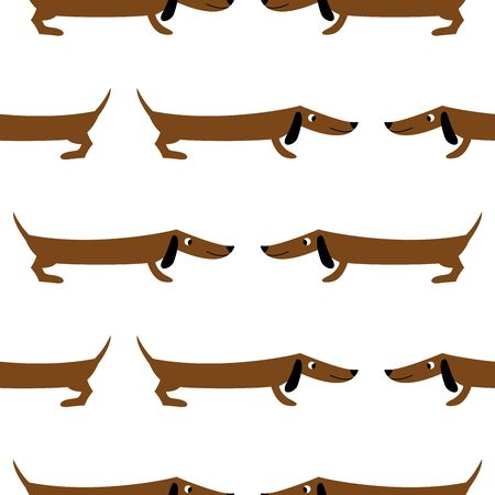 Dachshund. Seamless pattern. It is used for children s products, bedding, wrapping paper.