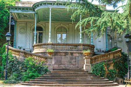 A historic building in the Park on Rustaveli Avenue. Tbilisi . Stock Photo