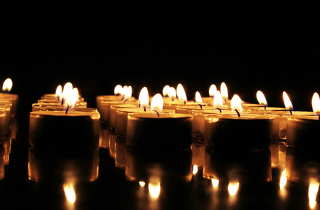 Burning candles with copy space area 免版税图像
