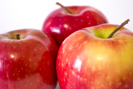 Ripe red apples close up