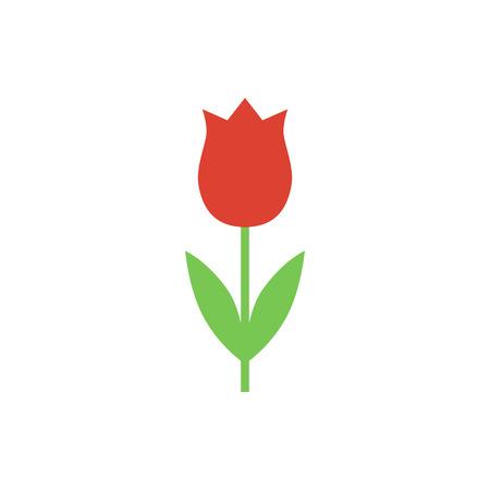 Tulip vector icon. Tulip vector icon in a flat style.