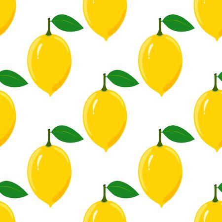 lemony: Seamless pattern with ripe juicy lemon fruit