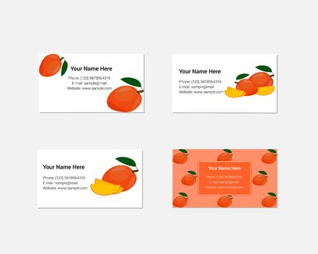 pattern corporate identity orange: Design of business cards with yummy mango