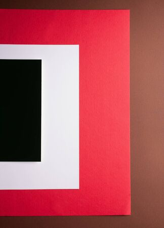 sheets of thin color felt, shades from black to light brown