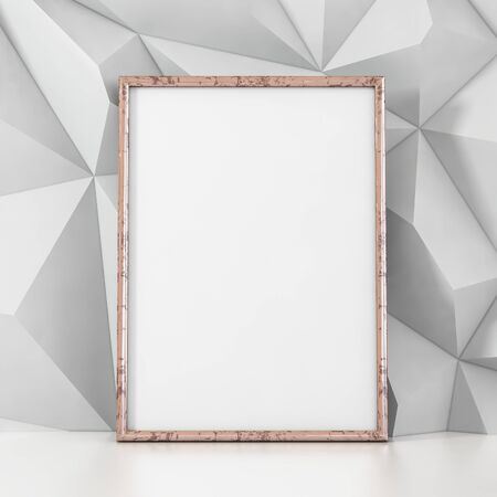 Empty frame on white background - 3D illustration