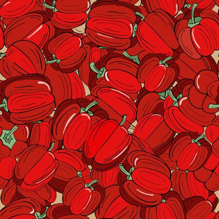 Red pepper paprika seamless background