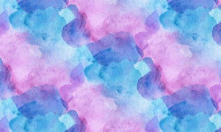 Abstract watercolor texture with pink-blue divorces