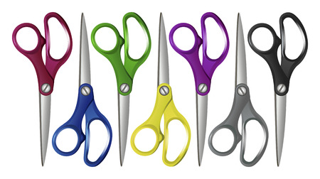 clericalist: Excellent vector Set Colorfull scissors isolated on white. Illustration