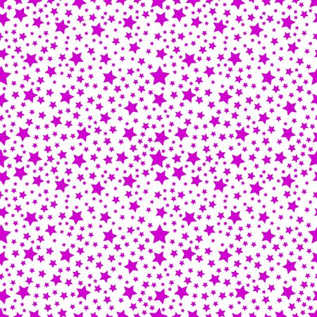Star purple seamless pattern. Vector illustration isolated on white background.