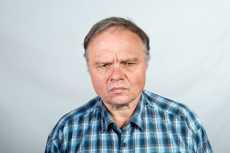 Emotion of a middle-aged man when he thinks about how to counter a viral pandemic. Satire and humor