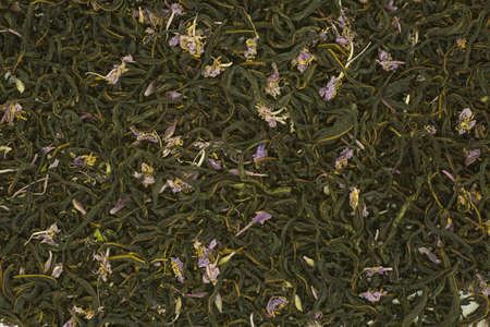 Russian tea. Blooming Sally. Tea background. Ivan tea leaves and flowers mixture. 写真素材