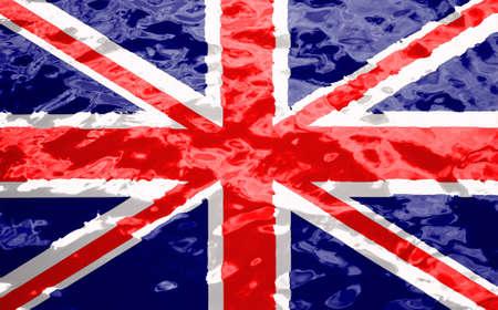 英国国旗树皮纹理背景。英国公共假期贺卡的背景。纪念日和和解日。也许假期。春天了。女王的生日。