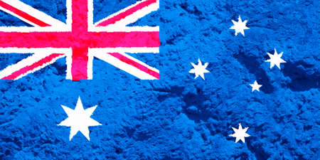 Australia flag on texture background. Background for greeting cards for Australia public holidays. Australia Day, ANZAC Day, Queen's Birthday, Labor Day.