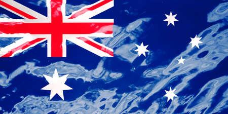 在纹理背景的澳大利亚旗子。贺卡的背景为澳大利亚公众假期。澳大利亚日,anzac日,女王的生日,劳动节。