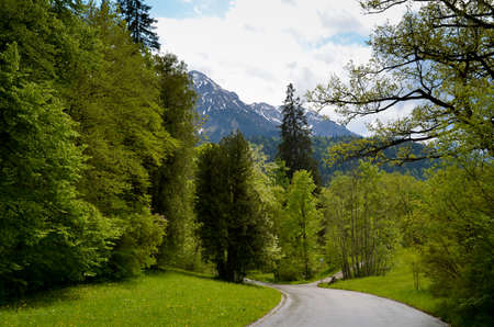 The beautiful gardens of Linderhof Castle in Bavaria Germany - LINDERHOF, GERMANY