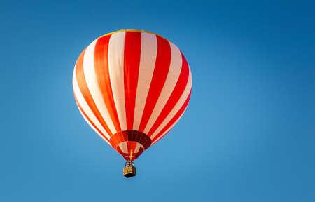 Balloon Festival. Flying balloons against the blue sky.