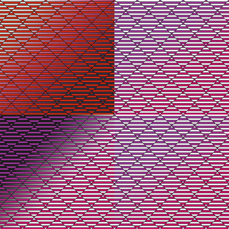 Pattern on the gradient. Optical illusion pattern. Lilac red base. Content for the designer.