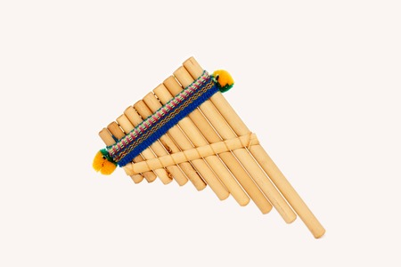pan flute: Pan flute on a white background small