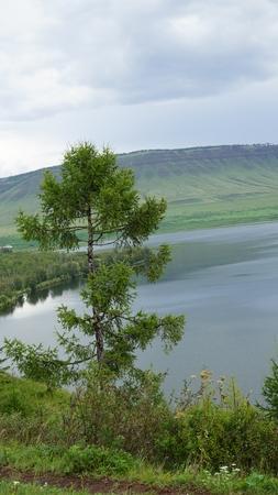 lake in Siberia in the Republic of Khakassia Stok Fotoğraf