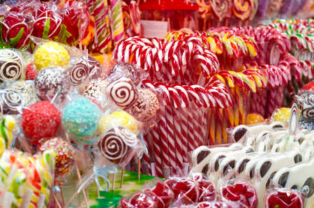 peppermint candies on the street fair