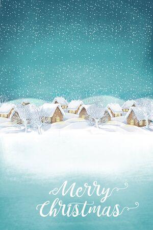 Christmas winter village landscape .Snowing Imagens - 69131357