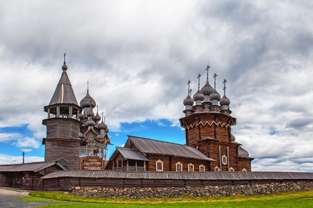 wooden Orthodox Church of the Transfiguration on Kizhi island
