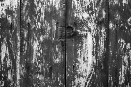 Texture of old wooden wet planks. Old vintage aged grunge dark brown and gray wooden floor planks. Black-white. Stok Fotoğraf