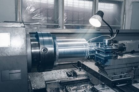 the old Metalworking machine, made in the middle of the last century, is still in good condition. The use of old technology in a time of crisis and stagnation.