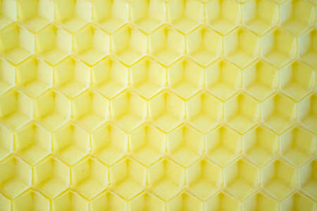 honeycomb made of wax close up. products of bees. Background Banco de Imagens