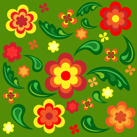 Seamless wallpaper with floral pattern