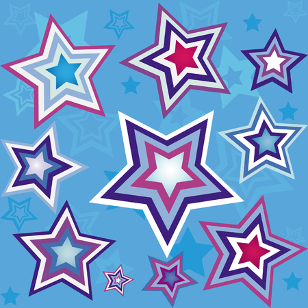 Seamless wallpaper with star pattern Illustration