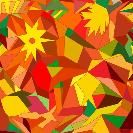 Abstract mosaic seamless with geometric pattern Vector