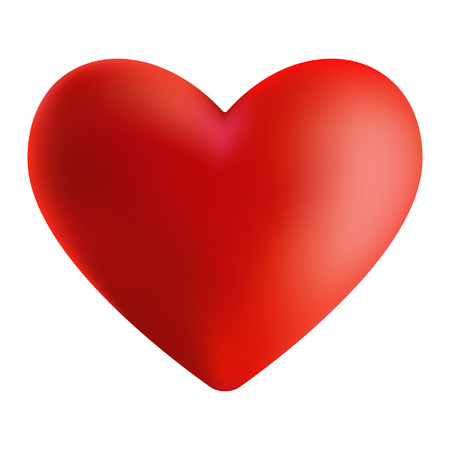 Illustration of red isolated heart