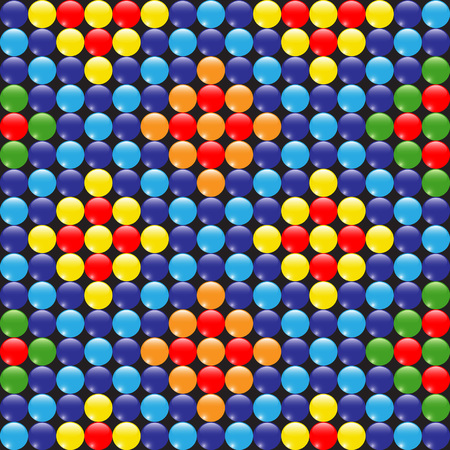 Seamless wallpaper with colorful beads 일러스트