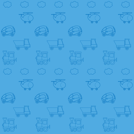 Seamless wallpaper with toy cars Illustration
