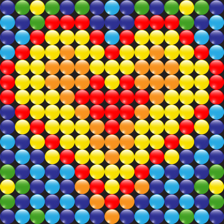 Colorful pattern of beads and heart