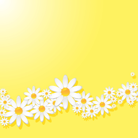 Yellow pattern with white daisies