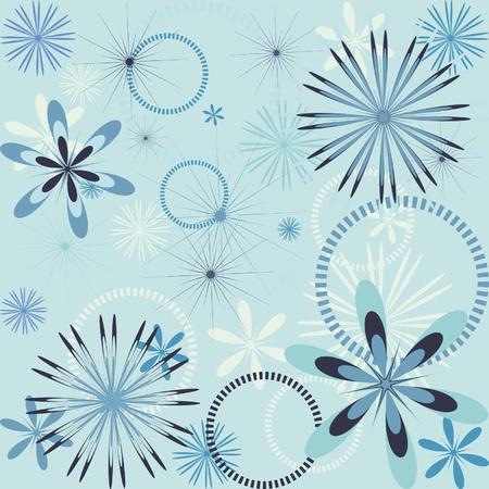 Seamless wallpaper with snowflake pattern 일러스트